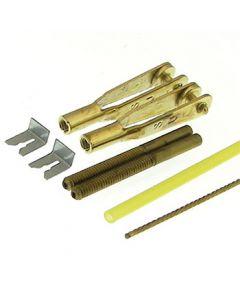 """Steel Rod Type Gold n Rods 36"""" long, 2-56"""
