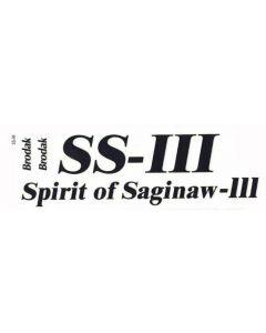 Spirit of Saginaw III Decal