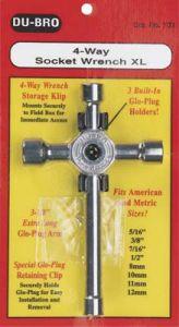 Dubro 4-Way Socket Wrench XL