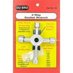 Dubro 4-Way Socket Wrench
